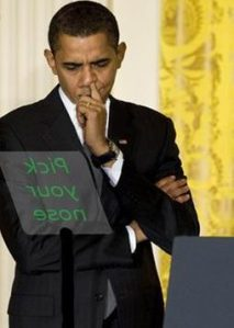 Obama and His Teleprompter
