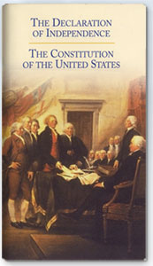 Pocket Declaration of Independence and US Constitution