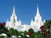 The San Diego California Temple of The Church of Jesus Christ of Latter-day Saints.