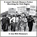Romney's father in many civil rights marches